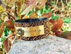 'Blessed' Embossed Cuff