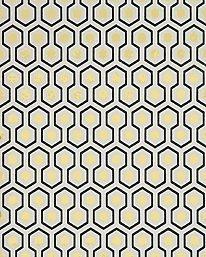 Hicks's Hexagon Charcoal/White från Cole & Son