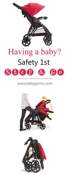 Having a baby? Check out the super easy to fold Safety 1st Step & Go stroller! PS. It also accept an infant car seat to become a travel system! #baby #pram #buggy
