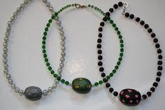 Kudin mukana: Polymeerimassa: Big home-made polymer clay bead with glass beads