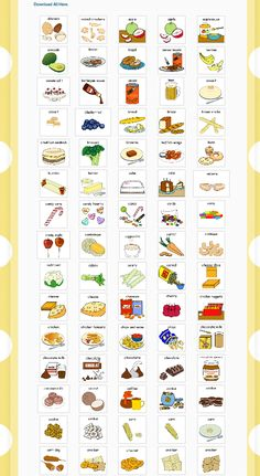 Instant download or select and save. Loads of free food symbols from Hello Autism Resources. Food Therapy, Therapy Ideas, Autism Resources, Children With Autism, Food Pictures, Free Food, Nutrition, Symbols, Drinks