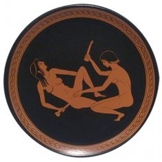 Ancient Greek Plate with Erotic Scene, Ancient Greek Vases, Greek Hellenistic Macedonian, Civilization Ancient Greek Art, Ancient Greece, Ancient Egypt, Statues, Greek Pottery, Art Of Love, Sculpture Painting, Historical Art, Erotic Photography