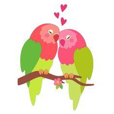 Silhouette Design Store - View Design #241633: love birds