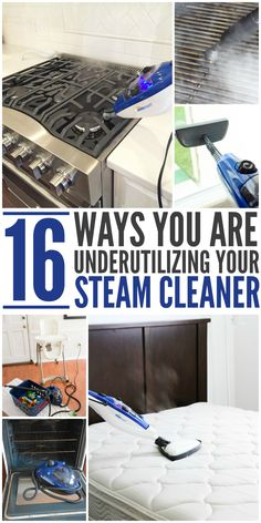 A lot of people buy an expensive steam cleaner but only use it for their carpets or their floors. This is totally underutilizing their steam cleaner's abilities. Wondering if you're getting the best bang for your buck with yours? Check this out. Diy Steam Cleaning, Deep Cleaning Tips, House Cleaning Tips, Cleaning Solutions, Spring Cleaning, Cleaning Hacks, Steam Clean Carpet, How To Clean Carpet, Steam Clean Couch