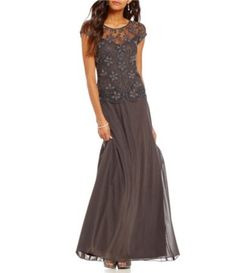 Shop for Pisarro Nights Beaded Mock Two-Piece Cap Sleeve Gown at Dillards.com. Visit Dillards.com to find clothing, accessories, shoes, cosmetics & more. The Style of Your Life.