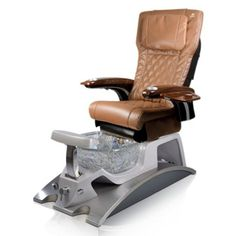 Argento SE Spa Pedicure Chair - The ANS Argento SE is a stylish stainless steel pedicure spa that features beautiful glass sink bowl. Spa Pedicure Chairs, Pedicure Spa, Manicure And Pedicure, Nail Salon Furniture, Spa Chair, Drain Pump, Glass Sink, Shower Hose, Pu Leather