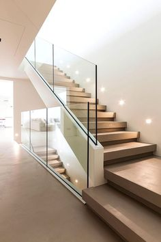Modern Staircase Design Ideas – Modern stairs can be found in lots of styles and designs that can be real eye-catcher in the various location. We've assembled best 10 modern models of stairways that can give. Glass Stairs Design, Home Stairs Design, Interior Stairs, Modern House Design, Home Interior Design, Railing Design, Modern Stairs Design, Staircase Glass, Contemporary Stairs