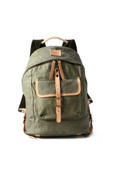 WILL LEATHER GOODS / ウィルレザーグッズ: Wax Coated Canvas Backpack