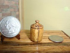 Dollhouse Miniature 1:12 Cookware & Tableware Canister Handcrafted OOAK #Y1 #HandcraftedMiniaturesbyOppi
