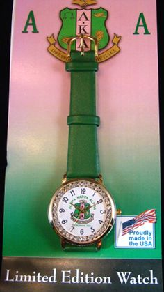 AKA Sorority Crystal Watch I must say, this is Alpha Kappa Alpha Sorority, Aka Sorority Gifts, Black Fraternities, Greek Gifts, Pink Apple, Alpha Female, Premier Designs Jewelry, Pretty In Pink, Pretty Girls