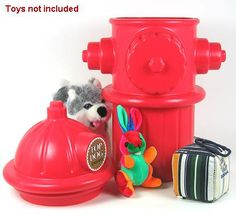 Full Size Replica of a fire hydrant. Top opens for storing pet toys, food, litter or other items. Or use in the yard to improve your pet's aim. Fire Hydrant features Lightweight, durable plastic 24″ Tall x 9″. Store pet toys, pet food, etc. Great for  mud room