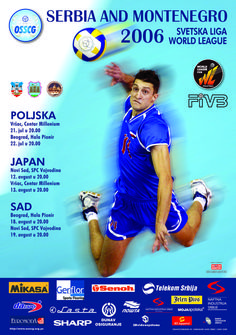 2006 World League Intercontinental Round poster.