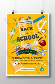 Modern and Creative BAck to School Template Design for School Party#pikbest#templates Back To School Special, Welcome Back To School, Teachers Day Poster, School Template, Powerpoint Word, School Posters, Teachers' Day, School Parties, Sale Poster