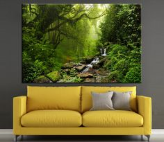 Selva in Nepal Large Forest Photoprint Multi Panel Canvas Print, Nature Wall Art Decoration Extra Large Print Ready to Hang by CanvasPrintStudio on Etsy
