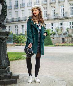 Manteau Jules - Chemise Barbara - Jupe Pierre Bomber Jacket, Hipster, Jackets, Style, Fashion, Pea Coat, Winter Collection, Skirt, Dress Shirt