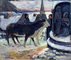 Christmas Night, c.1902-3 (oil on canvas), Gauguin, Paul (1848-1903) / Indianapolis Museum of Art, USA / Bridgeman Images
