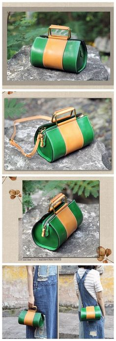Handmade Genuine Leather Handbag Small Satchel Messenger Bag for Women 14152