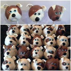 puppy dog cake pops