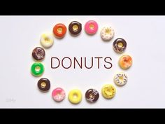 [Stop Motion] Polymer Clay Donuts Tutorial / Tutoriel Fimo - YouTube