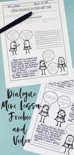 This minilesson is perfect for any 4th grade, 5th grade, or 6th grade classroom. Teach students how to use dialogue with a free video and simple lesson plan! All fourth graders, fifth graders, and sixth graders will enjoy learning about using dialogue in their narrative writing.
