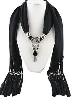 Jemis 6 Colors Cute Fox Pendant Scarf Women Retro Fashion Scarfs Fringed Necklace Scarves Jewelry (Black) Jemis http://www.amazon.com/dp/B00XAB7UYK/ref=cm_sw_r_pi_dp_jVr4vb0NZ0AF4