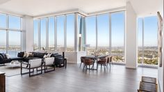 Rent This Swanky Los Angeles Penthouse for $65,000 Per Month – Robb Report Penthouse Apartment, Living Spaces, Living Room, International Real Estate, Dream House Exterior, Pent House, Luxury Real Estate, Luxury Homes, Interior Design