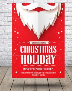 Christmas Holiday Flyer by RafiqFarzali This flyer is designed for any club, bar, lounge, festival, party, concert, event or other advertising purposes.FeaturesSize A43mm