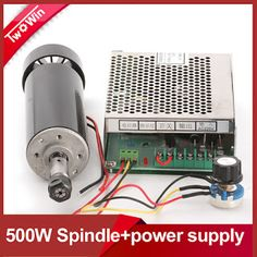 FREE SHIPPING Air cooled 0.5kw Air cooled spindle ER11 chuck CNC 500W Spindle Motor  Power Supply speed governor For DIY CNC (32341211632)  SEE MORE  #SuperDeals