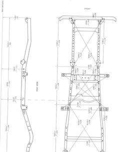 FJ45LV frame blueprint from Factory Service Manual