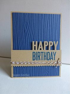 Masculine Happy Birthday by Jacquie J - Cards and Paper Crafts at Splitcoaststampers