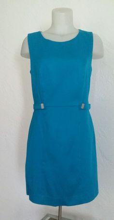 NWT BANANA REPUBLIC PETITE 10 BLUE SHEATH SLEEVELESS DRESS RETAIL $89.99 #BananaRepublic #Sheath