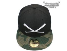 JustFitteds Logo Camo Black 59Fifty Fitted Baseball Cap by JUST FITTEDS x NEW ERA