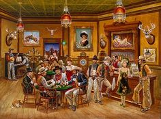 The saloon crowd