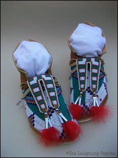 Native American Style Beaded Adult Moccasins, Men's Beaded Moccasins, Plains Style, Fully Beaded, Lane (Lazy) Stitch, Brain Tanned Deer Hide