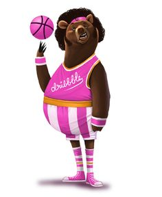 Bears and Basketball, Who knew? #skillz #characterdesign