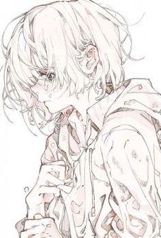 Drawing anime girl tutorials sketch Ideas Drawing anime girl t. Anime Drawings Sketches, Anime Sketch, Manga Drawing, Manga Art, Art Drawings, Sketch Drawing, Pencil Drawings, Pretty Art, Cute Art