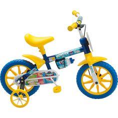 Americanas TOP!! Bicicleta com rodinhas infantil (rosa e azul) >>>89,02