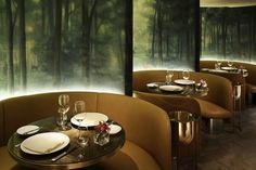 The Restaurant & Bar Design Awards 2015 UK & International Winners including entries from Japan, Romania, London, Spain and the United States. Modern Restaurant, Restaurant Design, Restaurant Bar, Architecture Restaurant, Luxury Restaurant, Restaurant Lighting, Lounge Design, Cafe Design, Design Hotel