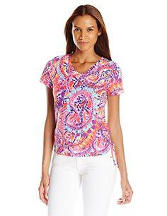 Caribbean Joe Women's Multi Color Printed Short Sleeve V ... https://www.amazon.com/dp/B01CZHKP6E/ref=cm_sw_r_pi_dp_4guJxbRTS3TYF