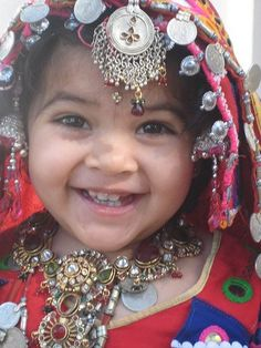 Two-years-old Indian Banjara-Girl wearing traditional Banjara ornaments. © BanjaraTimes.