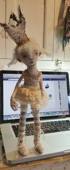 making textile/fabric/cloth/sculpture art dolls again...k d milstein..fadedwest.com