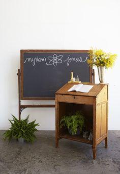 Shaw Chalkboard found at Found Vintage Rentals
