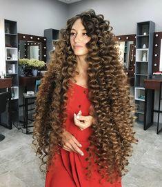 Big Curls For Long Hair, Really Long Hair, Long Curls, Long Brown Hair, Super Long Hair, Long Curly Hair, Curly Hair Styles, Thick Hair, Beautiful Long Hair