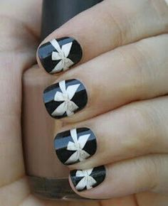 #bow #nailart