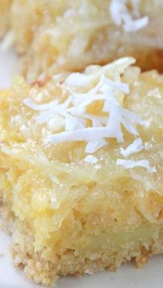 Gluten Free Dairy Free Coconut Lemon Bars #dessert #recipes #sugar #recipe #delicious