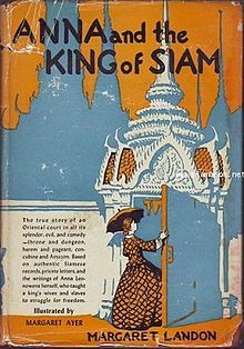 First edition of Anna and the King of Siam by Margaret Landon, 1944.