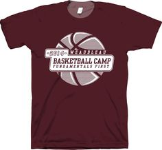 Kids Basketball Camp T Shirt Design By