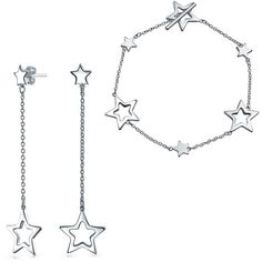 Patriotic Sterling Silver Stars Cutout Star Bracelet Earring Set ($45) ❤ liked on Polyvore featuring jewelry, theme jewelry star jewelry, sterling silver jewelry set, star jewelry, sterling silver jewelry, polish jewelry and sterling silver jewellery