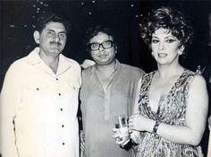 Anand Bakshi , R D Burman and Gina Lollobrigida