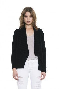 Lara Cardigan by one grey day- A large scale tribal jacquard pattern creates flattering style lines across our Lara cardi. Pullover Sweaters, White Jeans, Grey, Long Sleeve, Knits, Clothes, Shopping, Amazon, Black